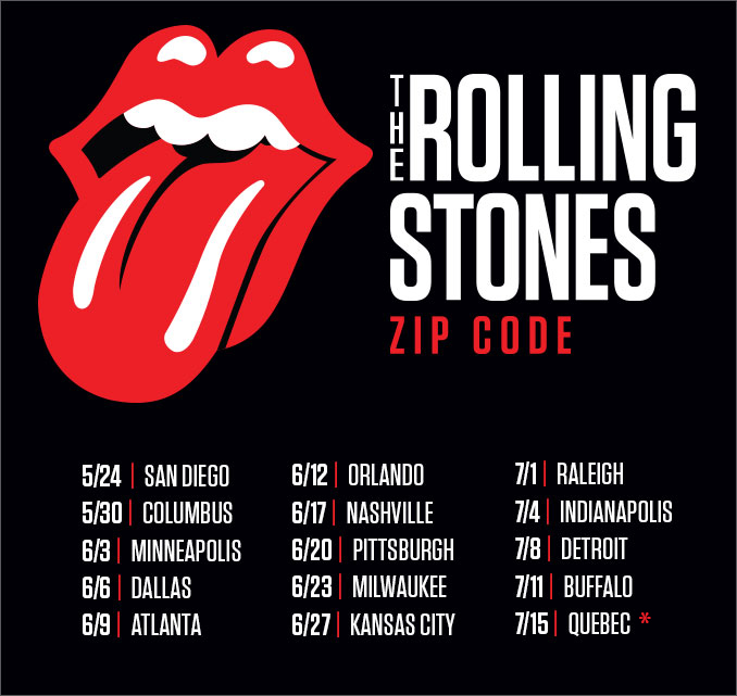 THE ROLLING STONES Tour Dates 2016 - 2017 - concert images ...